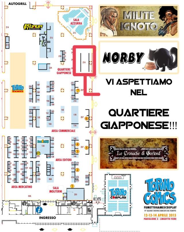 Mappa Torino Comics 2013